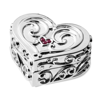 Picture of Girl's Silver Treasure Box